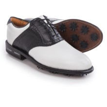 Justin Golf Albatross Contrast Saddle Golf Shoes - Leather (For Men) in White/Black - Closeouts