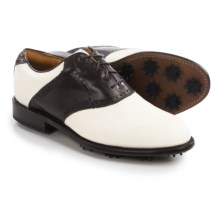 Justin Golf Albatross Contrast Saddle Golf Shoes - Leather (For Men) in White/Chocolate - Closeouts