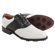 Justin Golf Albatross Golf Shoes - Leather (For Men) in White/Black - Closeouts