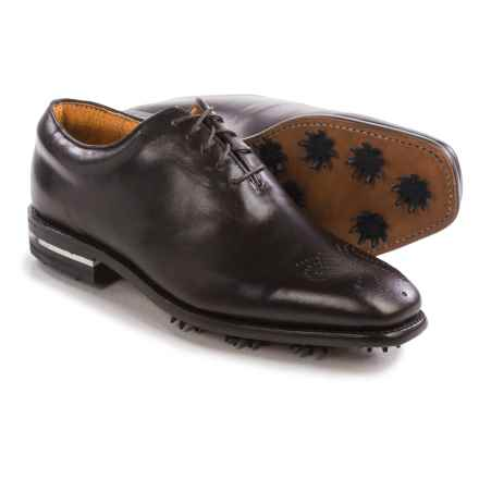 Justin Golf Leather Golf Shoes - Square Toe (For Men) in Chocolate - Closeouts