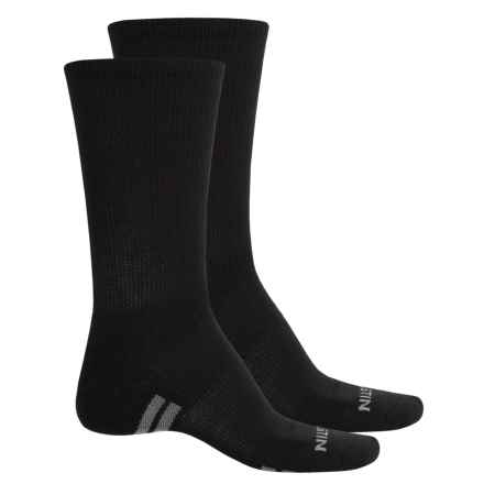 Justin Half-Cushion Socks - Crew (For Men) in Black/Red/Grey - Closeouts