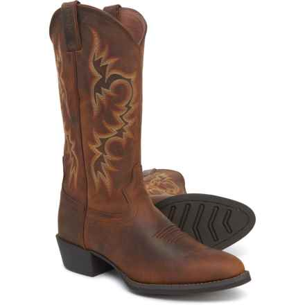 "Justin Huck Classic Cowboy Boots - 13"", Leather (For Men) in Light Brown"