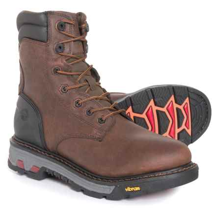 "Justin Laborer Work Boots - Waterproof, Insulated, 8"" (For Men) in Whiskey Barrel - Closeouts"