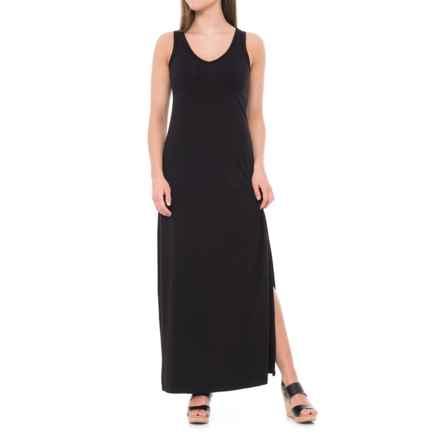 JV Joan Vass Dresses Jersey Tank Maxi Dress - Sleeveless (For Women) in Black - Closeouts