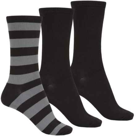 K. Bell Soft and Dreamy Socks - 3-Pack, Crew (For Women) in Black - Closeouts