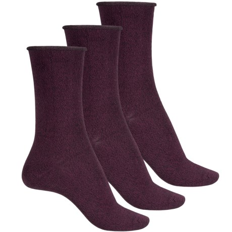K. Bell Soft and Dreamy Socks - 3-Pack, Crew (For Women) in Wine Marl