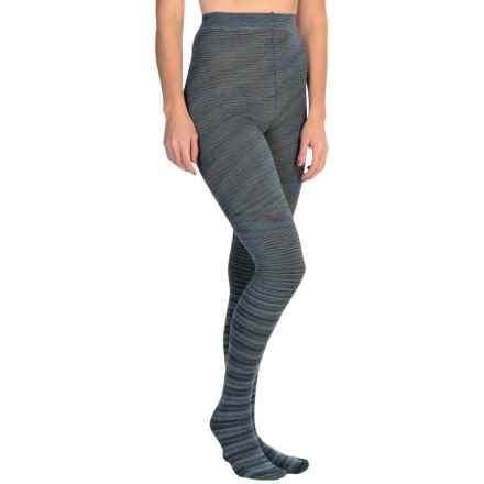 K. Bell Space-Dyed Tights (For Women) in Blue - Closeouts