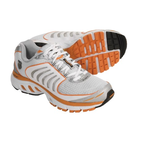 K-Swiss Keahou Running Shoes (For Women) in White/Silver/Orange Crush