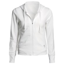 K-Swiss Warm Up Hoodie Jacket (For Women) in White - Closeouts