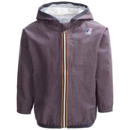 K-Way Claude Rain Jacket - Waterproof (For Little and Big Kids) in Heather Purple - Closeouts