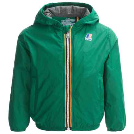 K-Way Lily Light Packable Rain Jacket (For Little and Big Kids) in Green - Closeouts