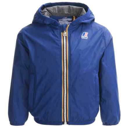 K-Way Lily Light Packable Rain Jacket (For Little and Big Kids) in Royal Blue - Closeouts