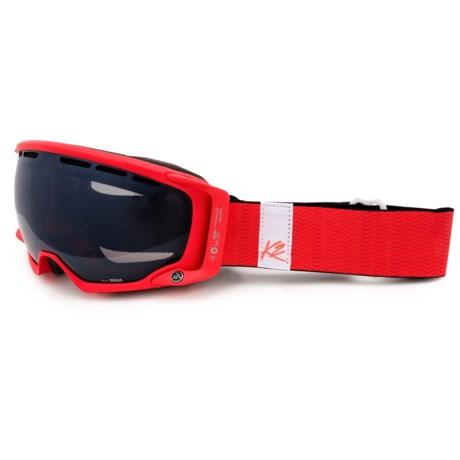 K2 Captura Pro Ski Goggles in Ruby Red