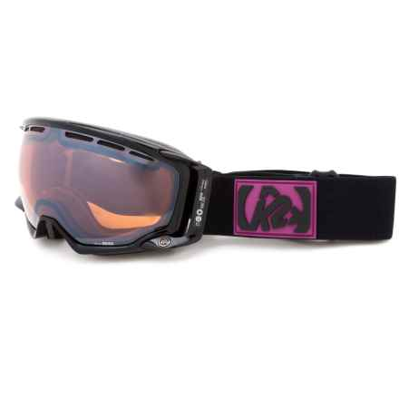 K2 Captura Ski Goggles - Octic Mirrored Lens (For Women) in Black/Pink - Closeouts