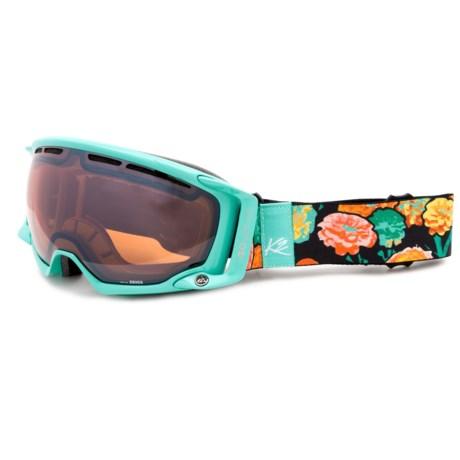K2 Captura Ski Goggles - Octic Mirrored Lens (For Women) in Sonar