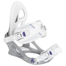 K2 Charm Snowboard Bindings (For Women) in Silver - Closeouts