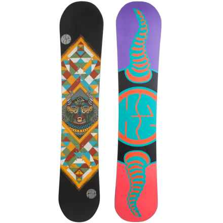 K2 Fastplant Grom Snowboard (For Little and Big Kids) in Bear Totem W/Purple/Salmon/Turquoise/Black - Closeouts