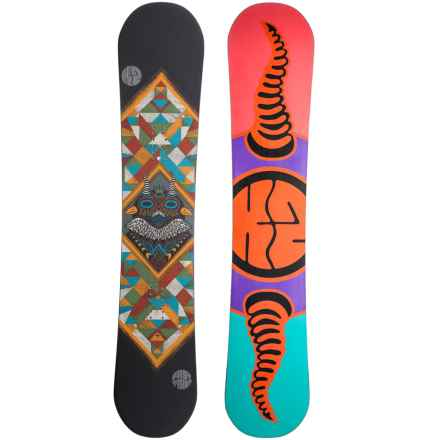 K2 Fastplant Grom Snowboard (For Little and Big Kids) in Bear Totem W/Salmon/Turquoise/Orange/Purple - Closeouts