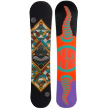 K2 Fastplant Grom Snowboard (For Little and Big Kids) in Fowl Play Totem W/Purple/Salmon/Turquoise/Black - Closeouts