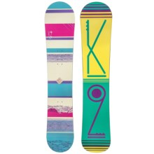 K2 First Lite Snowboard (For Women) in Yellow/Green - Closeouts