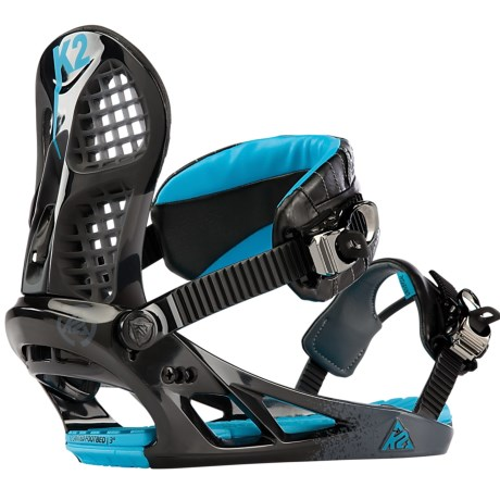 K2 Hurrithane Snowboard Bindings in Black