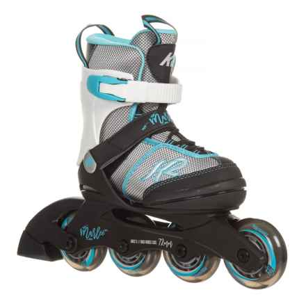 K2 Marlee Inline Skates (For Little and Big Girls) in Silver/Blue - Closeouts