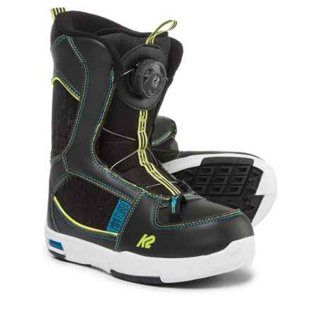 K2 Mini Turbo Snowboard Boots (For Little and Big Kids) in Black - Closeouts