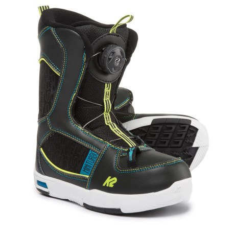 K2 Mini Turbo Snowboard Boots (For Little and Big Kids) in Black
