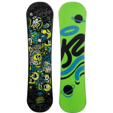 K2 Mini Turbo Snowboard (For Little and Big Kids) in Galactic W/Neon Green/Black Planet/Blue - Closeouts