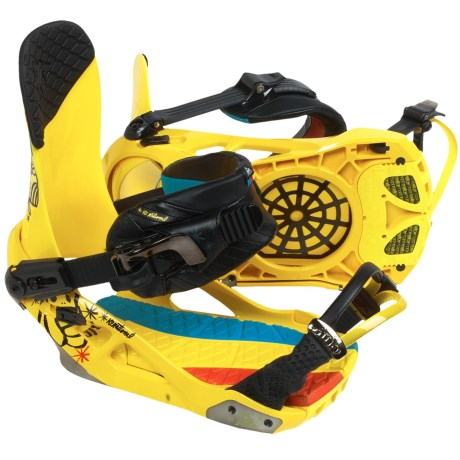K2 National Snowboard Bindings in Yellow