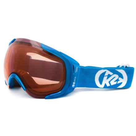 K2 Photoantic DLX Ski Goggles - Tripic Mirrored Lens in Persimmon - Closeouts