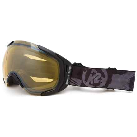 K2 Photoantic DLX Ski Goggles - Tripic Mirrored Lens in Yellow Flash - Closeouts