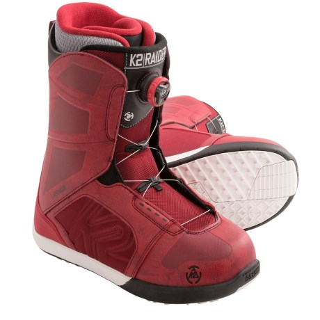 K2 Raider Snowboard Boots (For Men) in Red