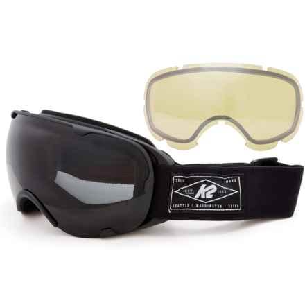 K2 Scene Ski Goggles - Extra Lens in Black - Closeouts