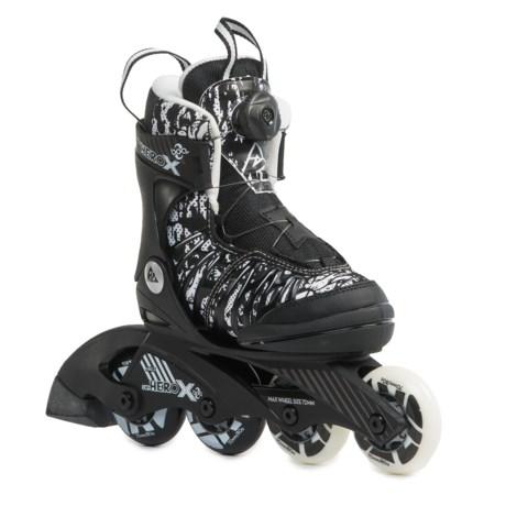 K2 Sk8 Hero X BOA® Inline Skates (For Little and Big Kids) in Black/White