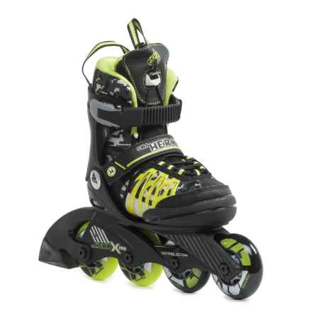 K2 SK8 Hero X Pro Inline Skates (For Little Kids) in Black/Lime - Closeouts