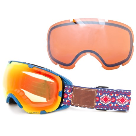 K2 Source Z Ski Goggles - Extra Lens in Groovy Blue