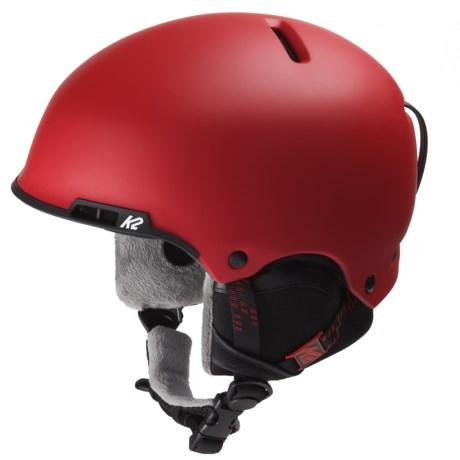 K2 Stash Ski Helmet in Red