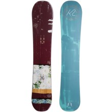 K2 WowPow Snowboard (For Women) in Maroon/Flower W/Blue Green Geode - Closeouts