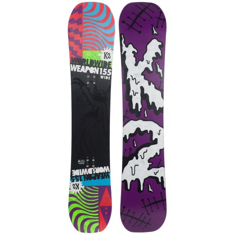 K2 WWW (World Wide Weapon) Rocker Snowboard - Wide in 155 Graphic