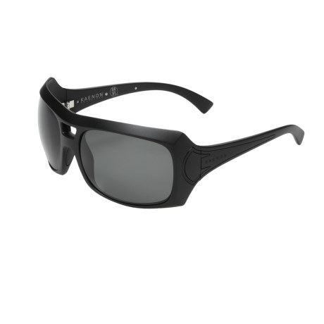 Kaenon Calais Sunglasses - Polarized (For Women) in Matte Black/G12 Grey