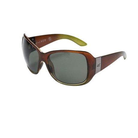 Kaenon Leila Sunglasses - Polarized (For Women) in Tobacco Olive/G12 Grey
