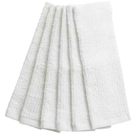 KAF Home Bar Mop Kitchen Towels - Set of 6 in White - Closeouts