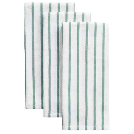 KAF Home Cass Kitchen Towels - Set of 3 in Mineral Blue - Closeouts