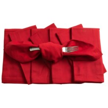 KAF Home Cloth Napkins - Set of 8 in Red - Closeouts