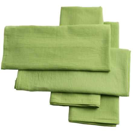 """KAF Home Jumbo Flour Sack Towels - 30x32"""", 4-Pack in Lime - Closeouts"""