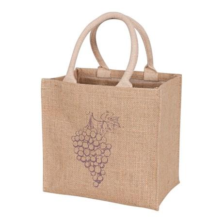 KAF Home Jute Wine Bag - 4-Bottle Capacity in Purple