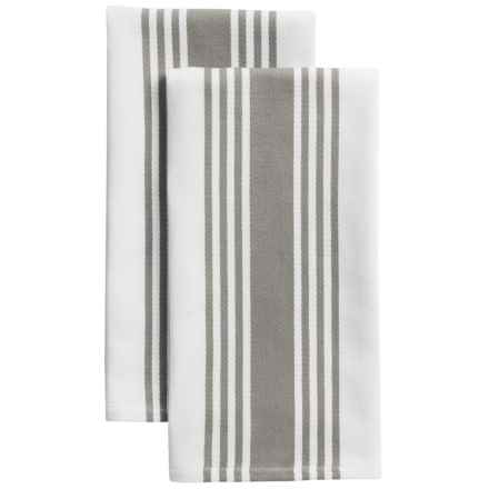 KAF Home Madison Stripe Kitchen Towels - Set of 2 in Drizzle - Closeouts