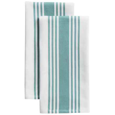 KAF Home Madison Stripe Kitchen Towels - Set of 2 in Mineral Blue - Closeouts