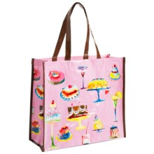 KAF Home Masha Reusable Shopping Tote Bag in Dessert - Closeouts